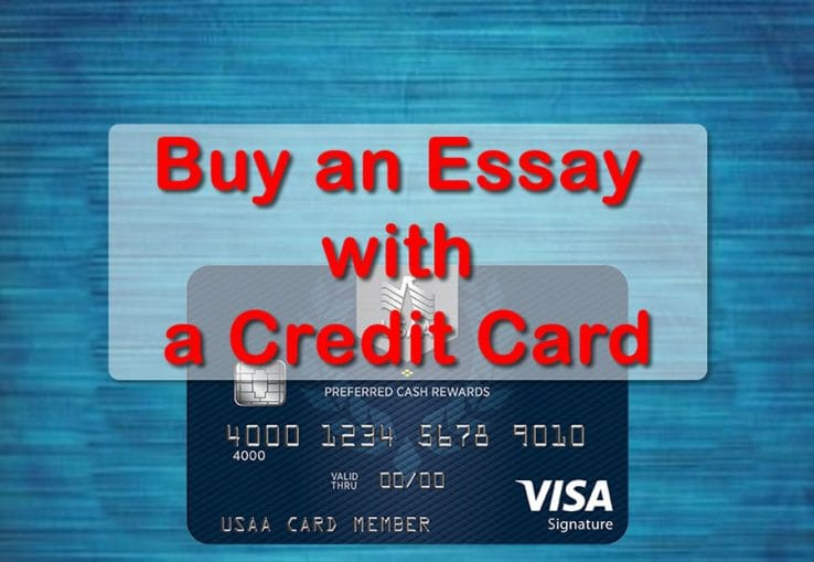 buy an essay with a credit card